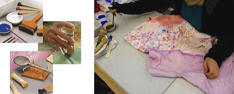 丸洗いクリーニングは生地や箔を検査してから洗います